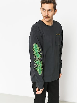 Mikina Stussy Leaves Ls (charcoal)