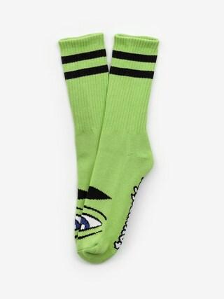 Ponožky Toy Machine Sect Eye (green)