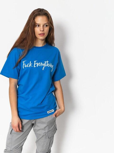 Tričko Diamante Wear Fuck Everything Wmn (blue)