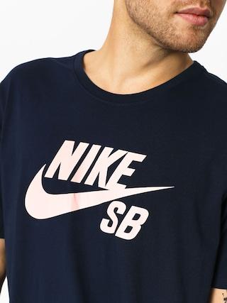 Tričko Nike SB Sb Logo (obsidian/obsidian/storm pink)