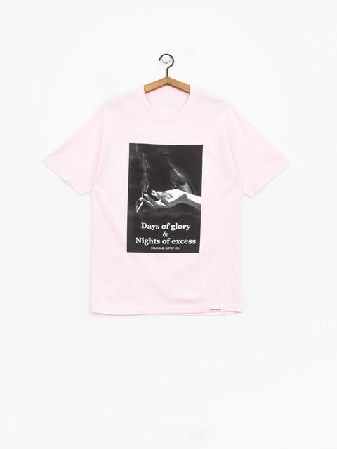Tričko Diamond Supply Co. Night Of Excess (pink)