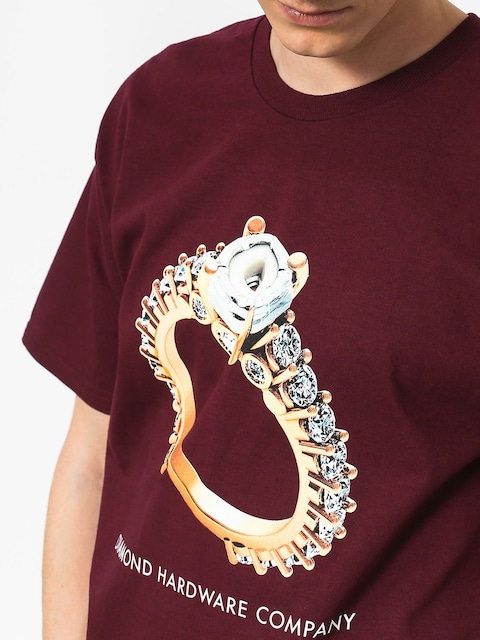 Tričko Diamond Supply Co. Hardware Ring (burgundy)