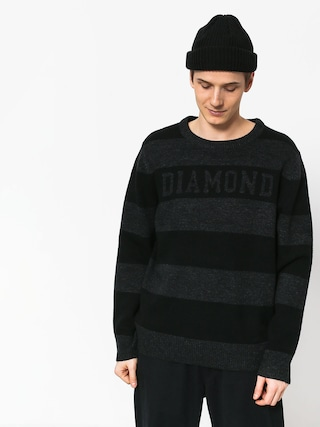 Sveter Diamond Supply Co. Striped Wool (black)