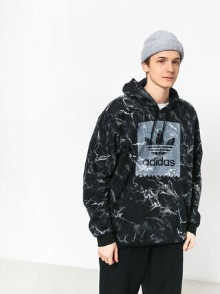 Mikina s kapucňou adidas Mrble Aop HD (black/white)