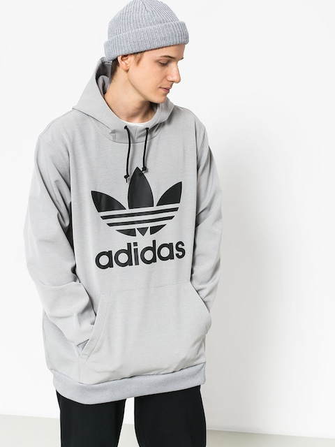 Mikina s kapucňou adidas Team Tech HD (medium grey heather/black)