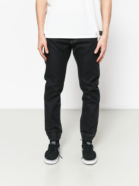 Nohavice MassDnm Base Jogger Jeans Sneaker Fit (black rinse)