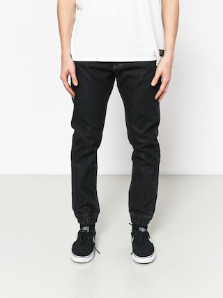Nohavice MassDnm Base Jogger Jeans Sneaker Fit (black rinse)