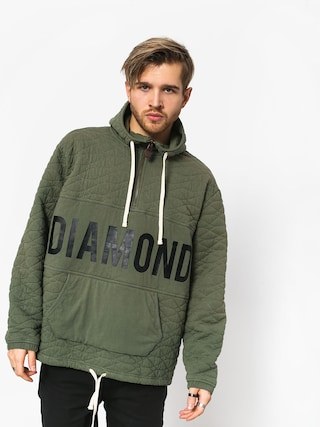 Mikina s kapucňou Diamond Supply Co. Quilted HD (olive)