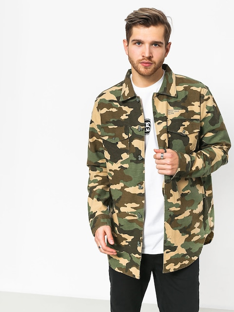 Košeľa Diamond Supply Co. Military Ls (camo)