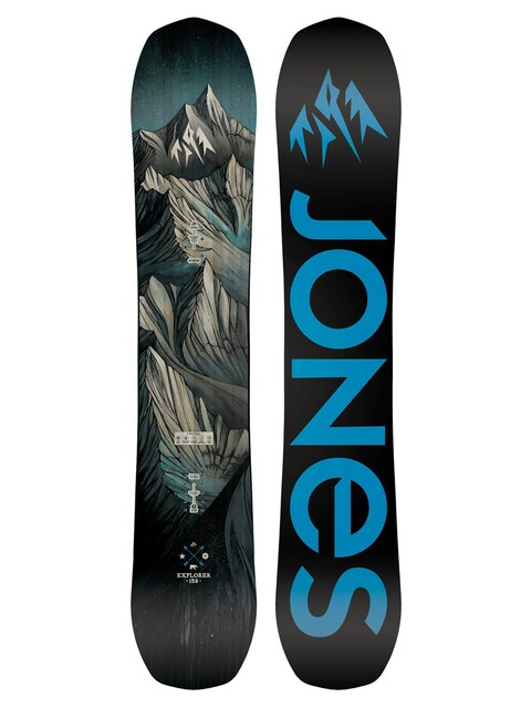 Snowboards Jones Snowboard Explorer (black/blue)