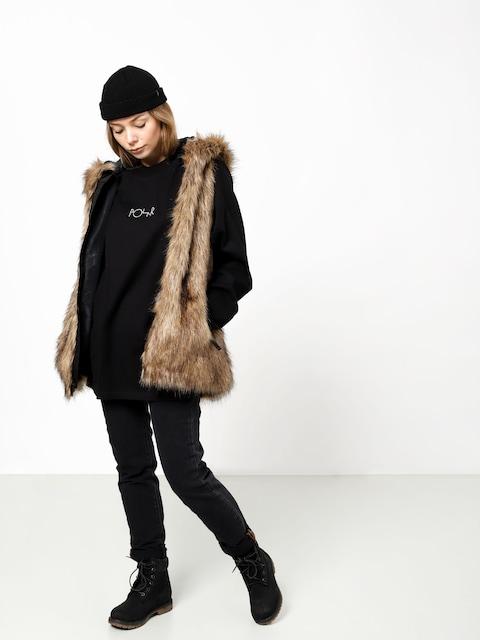 Mikina Volcom Rhea Faux Fur Vest Wmn (brn)