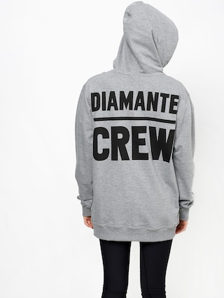 Mikina s kapucňou Diamante Wear Diamante Crew (grey melange)