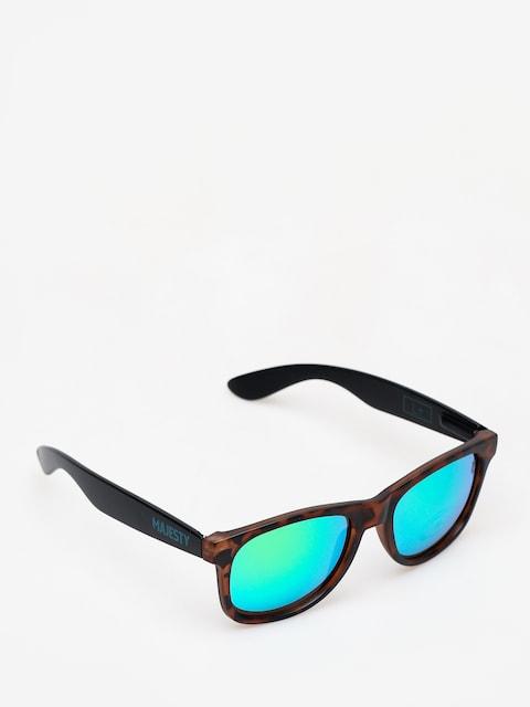 Slnečné okuliare Majesty L (black/tortoise with green emerald lens)