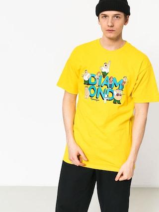 Tričko Diamond Supply Co. Diamond X Family Guy (yellow)