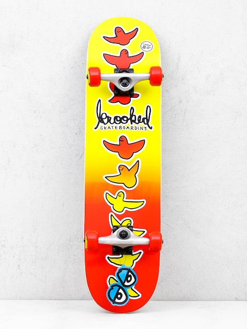 Skateboard Krooked Birdical Fades (red/yellow)