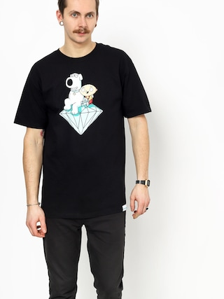 Tričko Diamond Supply Co. Stewie And Brian Brilliant (black)