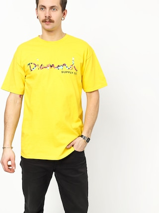 Tričko Diamond Supply Co. Og Script Fasten (yellow)