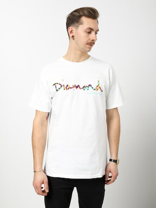 Tričko Diamond Supply Co. Og Script Fasten (white)