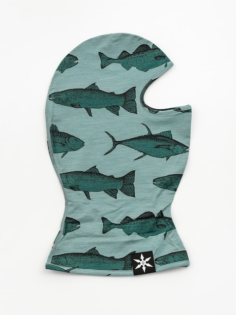Šatka Airblaster Merino Ninja Face (mint fish print)
