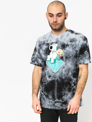 Tričko Diamond Supply Co. Stewie And Brian Crystal Wash (black)