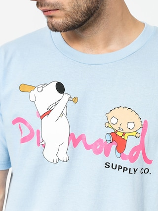 Tričko Diamond Supply Co. Family Guy Og Script (powder blue)
