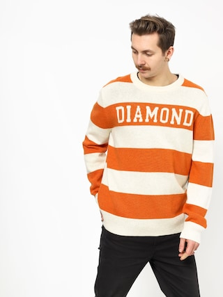 Sveter Diamond Supply Co. Striped Wool (orange)
