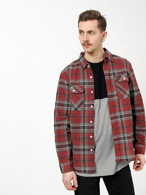 Košeľa Brixton Bowery Flannel Ls (brick/steel)