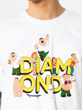 Tričko Diamond Supply Co. Diamond X Family Guy (white)