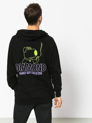Mikina s kapucňou Diamond Supply Co. Family Guy Collective (black)