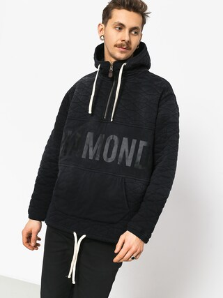 Mikina s kapucňou Diamond Supply Co. Quilted HD (black)