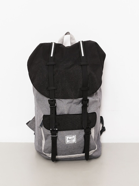 Batoh Herschel Supply Co. Little America (mid grey crosshatch/black/light grey crosshatch)