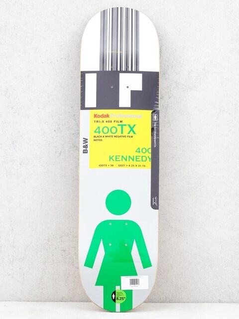 Doska Girl Skateboard Kennedy Kodak (white/black/silver)