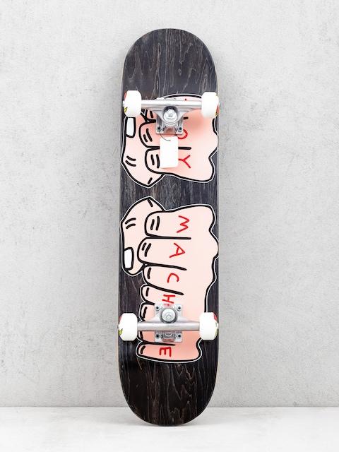 Skateboard Toy Machine Fists Woodgrain (black)