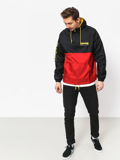 Bunda Thrasher Mag Logo Anorak (black red)