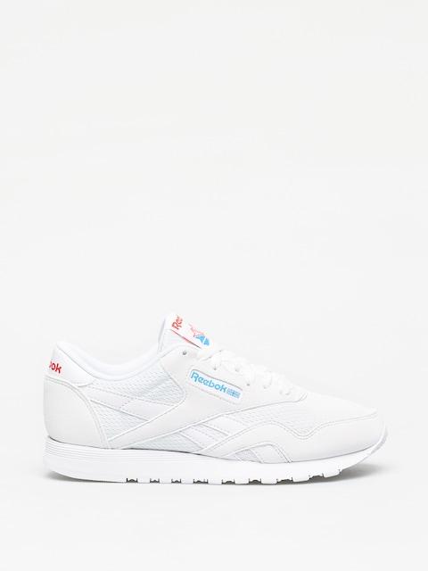 Topánky Reebok Cl Nylon Txt Wmn (white/blue/neon red)