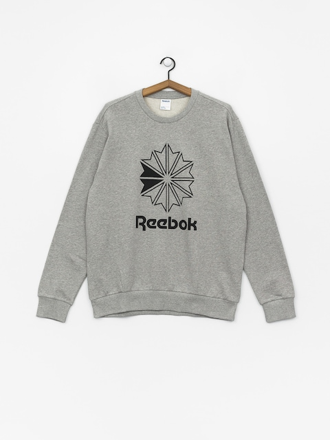 Mikina Reebok Ac Ft Big Starcrest Crew (mgreyh/black)