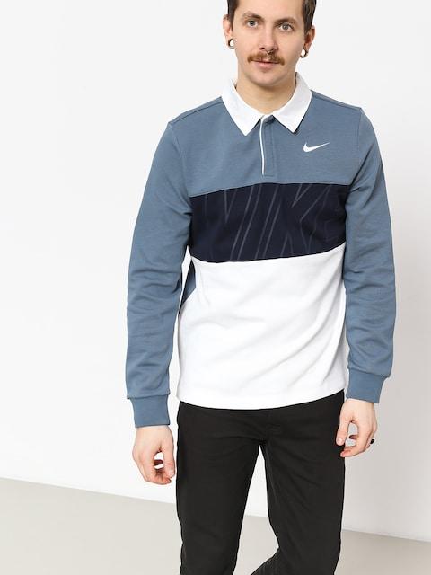 Polo Nike SB tričko Dry (thunderstorm/obsidian/white/white)