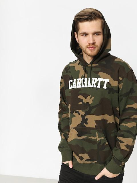 Mikina s kapucňou Carhartt WIP College HD (camo laurel/white)
