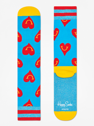 Ponou017eky Happy Socks Athletic Smiley Heart (blue/yellow/red)