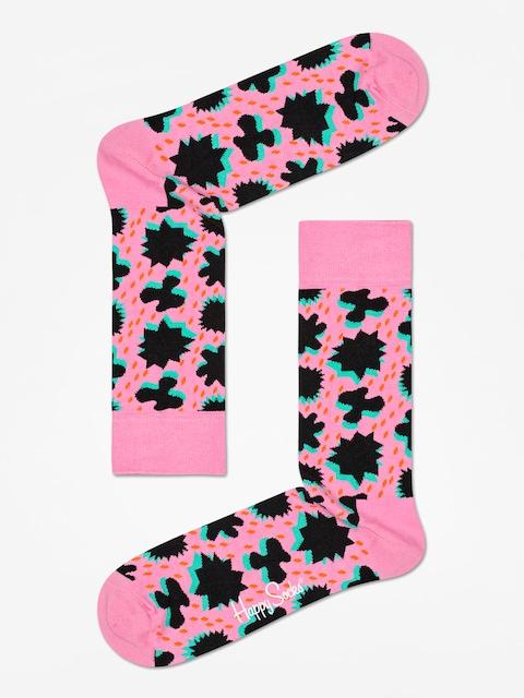 Ponožky Happy Socks Comic Relief (pink/black)