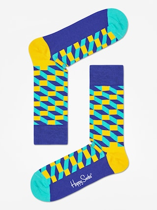 Ponožky Happy Socks Filed Optic (navy/royal/yellow)