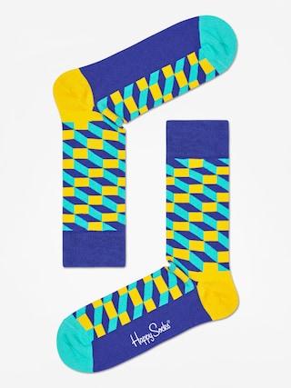 Ponožky Happy Socks Filed Optic (navy/royal/yellow)