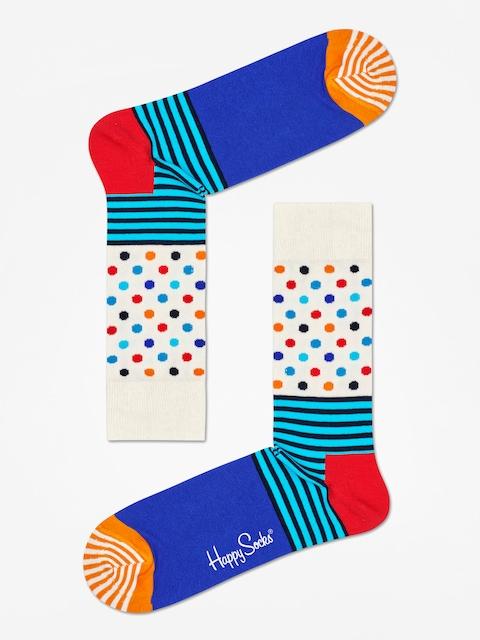 Ponožky Happy Socks Stripe And Dots (off white/blue/multi)