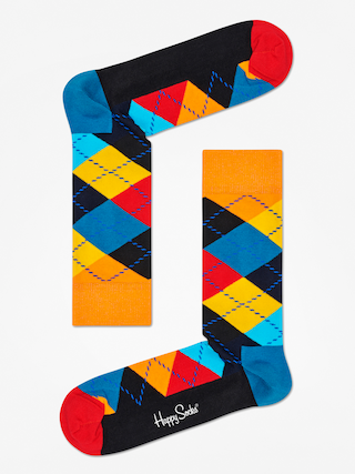 Ponožky Happy Socks Argyle (orange/black/multi)