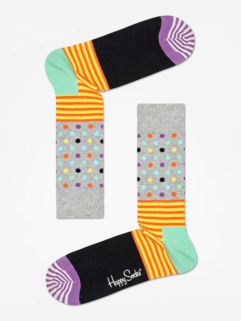 Ponožky Happy Socks Stripe And Dots (heather grey/black/multi)