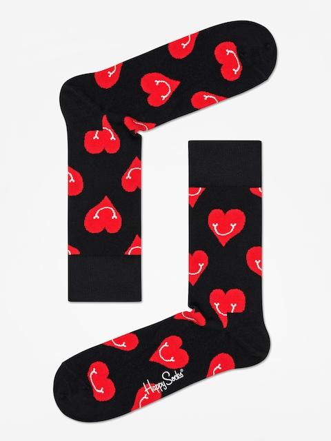 Ponožky Happy Socks Smiley Heart (black/red)