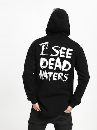Mikina s kapucňou Diamante Wear I See Dead Haters HD (black/white)