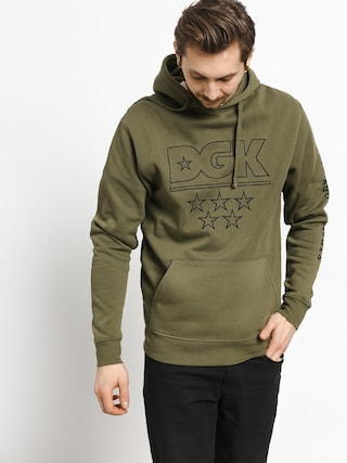 Mikina s kapucňou DGK 5 Star Custom HD (army)