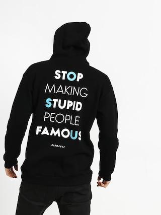 Mikina s kapucňou Diamante Wear Stupid People HD (black)