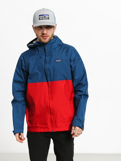 Bunda Patagonia Torrentshell (big sur blue w/fire red)